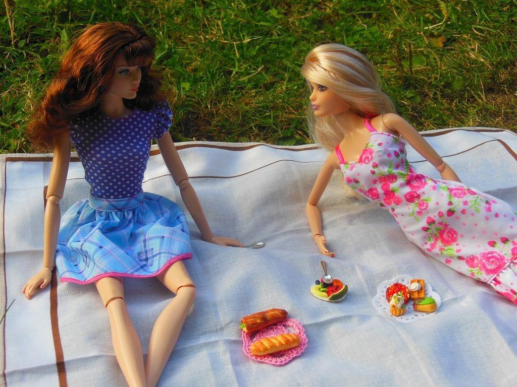 Cathy et Caroline font un pique-nique